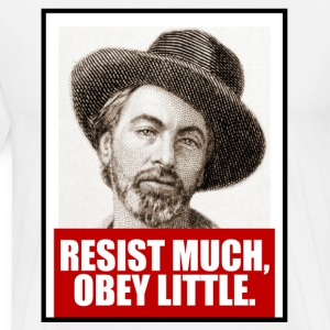 Resist Much, Obey Little - Men's Premium T-Shirt