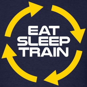 Eat Sleep Train Repeat shirt - Men's T-Shirt