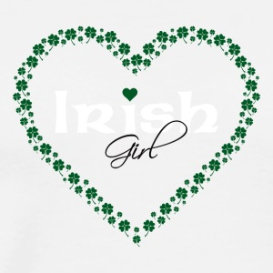 Irish Girl in Heart Made of Clovers - Men's Premium T-Shirt