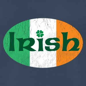Irish weathered oval - Men's Premium T-Shirt