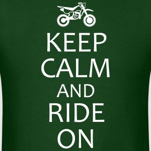 Keep Calm and Ride On motocross shirt - Men's T-Shirt
