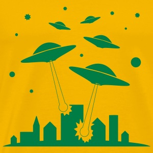 Ufo attack Invasion - Men's Premium T-Shirt