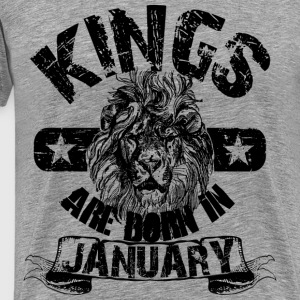 Kings Are Born In January T-Shirts - Men's Premium T-Shirt
