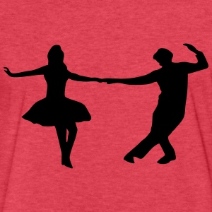 dancing couple T-Shirts - Fitted Cotton/Poly T-Shirt by Next Level