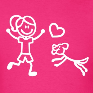 A Girl and Her Dog T-Shirts - Men's T-Shirt