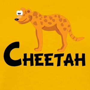 Cartoon Cheetah - Men's Premium T-Shirt