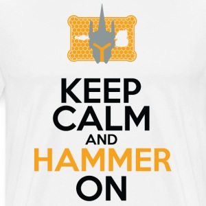 Keep Calm and Hammer On - Men's Premium T-Shirt