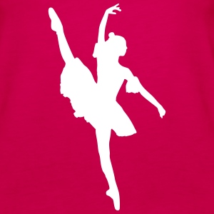 Dancer, Ballet dancer, Ballerina Tanks - Women's Premium Tank Top