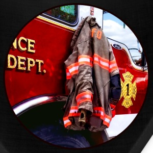 Fireman's Jacket On Fire Truck Caps - Bandana