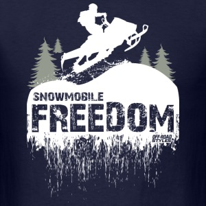 Snowmobile Freedom T-Shirts - Men's T-Shirt