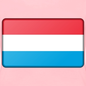 Flag of Luxembourg (bevelled) - Women's Premium T-Shirt