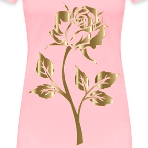 Copper Rose Silhouette No Background - Women's Premium T-Shirt