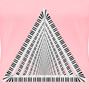 Piano Keys  Vortex - Women's Premium T-Shirt