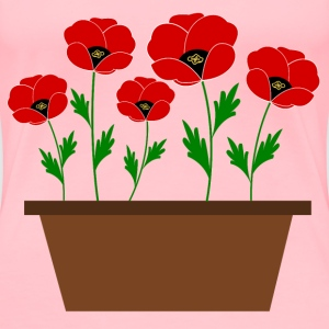 Poppies in a pot, just like that! - Women's Premium T-Shirt