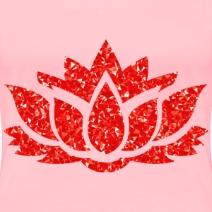 Ruby Lotus Flower Silhouette - Women's Premium T-Shirt