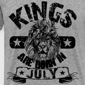 Kings Are Born In July T-Shirts - Men's Premium T-Shirt