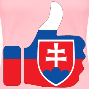 Thumbs Up Slovakia With Stroke - Women's Premium T-Shirt