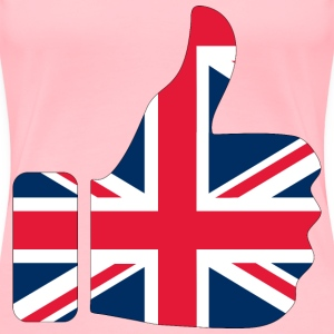 Thumbs Up United Kingdom Britain With Stroke - Women's Premium T-Shirt