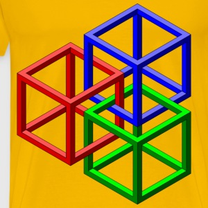 Geometric Shapes - Men's Premium T-Shirt