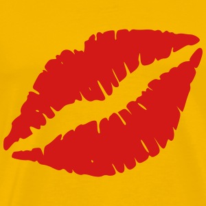 Red Lip Kiss - Men's Premium T-Shirt