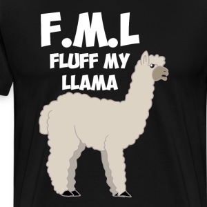 F.M.L. Fluff My Llama Animal Lover Insult T-Shirt T-Shirts - Men's Premium T-Shirt