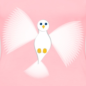 white flying dove no background - Women's Premium T-Shirt