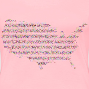 Prismatic United States Constitution Typography - Women's Premium T-Shirt