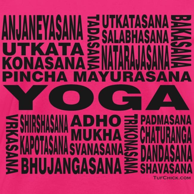 Yoga Asanas - Women's T-shirt - bw