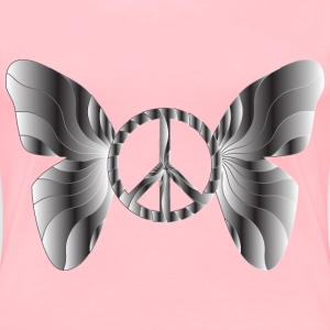 Groovy Peace Sign Butterfly 15 - Women's Premium T-Shirt