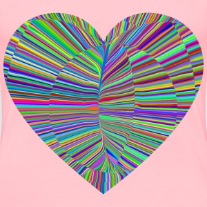 Psychedelic Folds Heart - Women's Premium T-Shirt