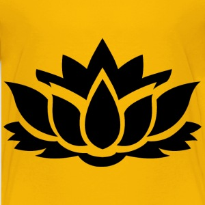 Lotus Flower Silhouette 8 - Kids' Premium T-Shirt