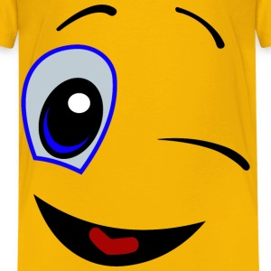 Winking Smiley Face - Kids' Premium T-Shirt