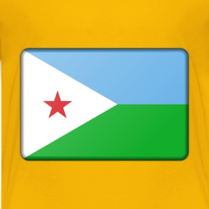 Djibouti flag (bevelled) - Kids' Premium T-Shirt