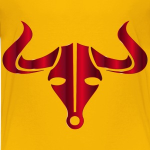 Crimson Bull Icon No Background - Kids' Premium T-Shirt