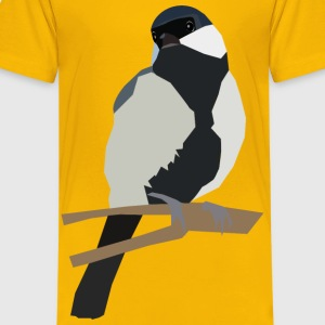Japanese Tit on a twig - Kids' Premium T-Shirt