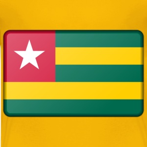 Flag of Togo (bevelled) - Kids' Premium T-Shirt