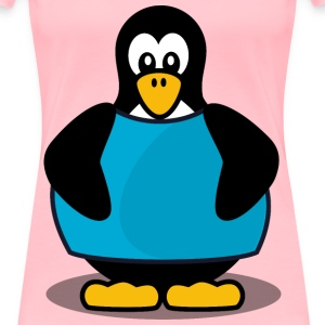 Penguin with a shirt - Women's Premium T-Shirt