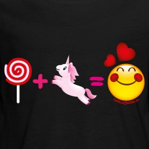 SmileyWorld Lollipop Plus Unicorn Equals Love - Kids' Premium Long Sleeve T-Shirt