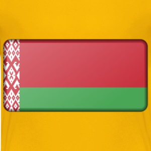 Belarus flag (bevelled) - Kids' Premium T-Shirt