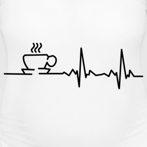 my heart beats for coffee T-Shirts - Women's Maternity T-Shirt