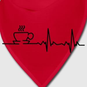 my heart beats for coffee Caps - Bandana