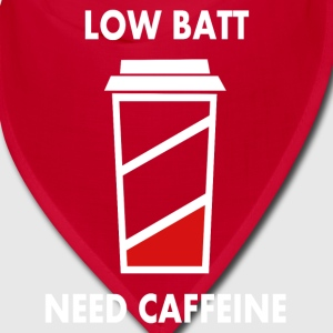 low batt need coffeine Caps - Bandana
