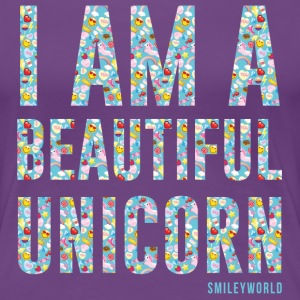 SmileyWorld I Am A Beautiful Unicorn - Women's Premium T-Shirt