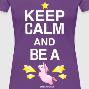 SmileyWorld Keep Calm And Be A Unicorn - Women's Premium T-Shirt