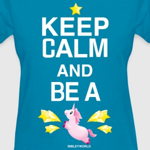 SmileyWorld Keep Calm And Be A Unicorn - Women's T-Shirt