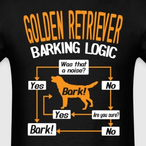 Golden Retriever Barking Logic T-Shirt T-Shirts - Men's T-Shirt