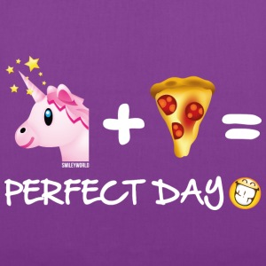 SmileyWorld Unicorn Plus Pizza Equals Perfect Day - Tote Bag