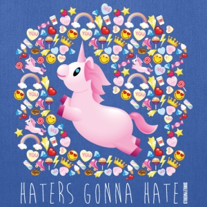 SmileyWorld Unicorn Haters Gonna Hate - Tote Bag