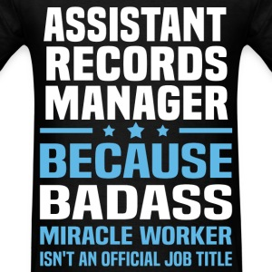 Assistant Records Manager Tshirt - Men's T-Shirt