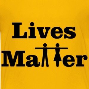 Lives Matter Typography - Kids' Premium T-Shirt